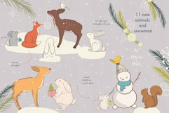 Christmas animals clipart Product Image 2