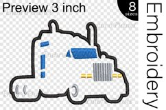Applique Truck - Embroidery Files - 1494e Product Image 2