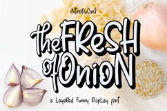 Fresh Onion // Layered Funny Display Font Product Image 1