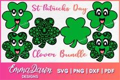 St PATRICK'S DAY CLOVER SVG BUNDLE 6 DESIGNS Product Image 1