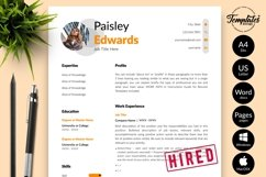 Modern Resume CV Template for Word & Pages Paisley Edwards Product Image 1