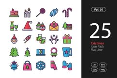 Christmas Icon Flat Line SVG, EPS, PNG Product Image 1