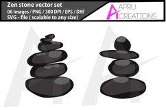 Zen stone svg / spa stone clipart Product Image 2