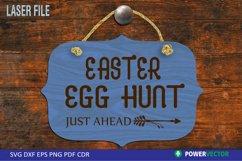 Easter Egg Hunt Sign Laser File Product Image 1