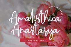 Amalisthica Anastasya Signature Font Script Product Image 1