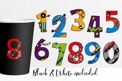 Numbers superhero graphic illustration Product Image 3