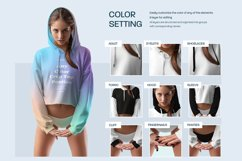 3 Mockups Woman Crop-Top Hoodie and Panties Product Image 3