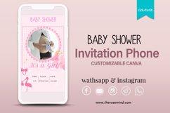 Baby shower invitation, editable Canva Product Image 1