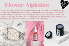 Flower Alphabet - vector and bitmap Product Image 1