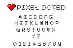 Pixel - 2X 16-Bit Gaming and Doted Font Product Image 2