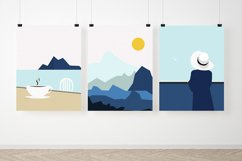 Set of illustrations, sea, girl, boat, lighthouse Product Image 4