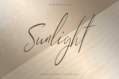 Sunlight - Signature typeface Product Image 1