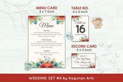 Wedding Invitation Set #4 Watercolor Floral Flower Style Product Image 6