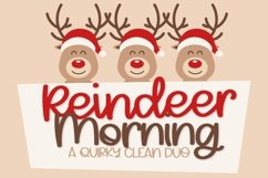 Reindeer Morning - A Font Duo Product Image 1