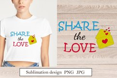 Quote Share the love Sublimation design png Product Image 1