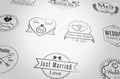 Wedding Stamp Vector Badges Logos Product Image 2