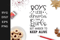 Boys Quote SVG Cut File Product Image 1