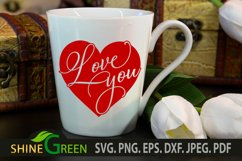Valentines Day SVG - Love You Heart, Couple Gift Idea Product Image 4