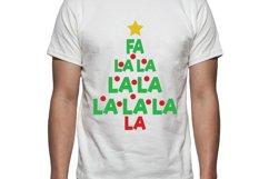 Fa La La Christmas Tree Tee Shirt Design Product Image 1