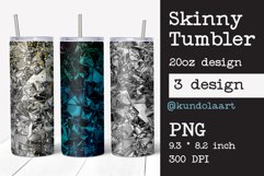 Skinny tumbler sublimation silver foil crush template Product Image 1