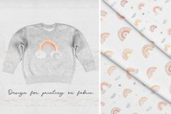 Watercolor Rainbow. Collection Patterns and Cliparts Product Image 5