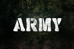 Military Stencil Font Product Image 5
