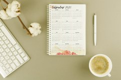 Printable calendar 2020 2021 2022 2023 2024 for A5 planner Product Image 3