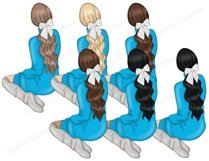 Hanukkah GIRLS Dreidel Menorah Chanukah Holiday Winter - PNG Product Image 2