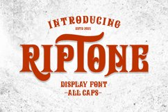 Riptone - Display font Product Image 1