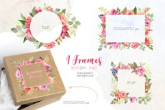 Watercolor Summer Flowers Clipart Product Image 3