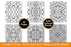Geometric Coloring Pages - PDF,PNG, JPG files. Printable Product Image 5