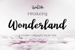 Wonderland, a modern calligraphy font Product Image 2