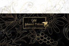 Gold Botanical Outline Elements Product Image 1