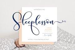 Sleeplesson Modern Script Product Image 1