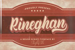 Rineghan - Bold Script Font Product Image 1