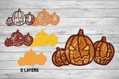 Halloween SVG 3D Layered | Multi Layer Pumpkin SVG |Cut File Product Image 2