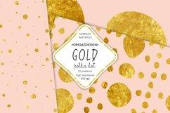 Gold foil Polka dot Blush Pink Seamless Pattern Product Image 3