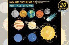 SOLAR SYSTEM clipart, Planet clip art, EDUCATIONAL design Product Image 2