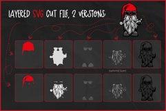 Gnome SVG, Cool Biker Gnome, Devil's Horn Rock On Hand Sign Product Image 2