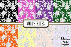 White Roses - 16 Digital Papers/Backgrounds Product Image 2