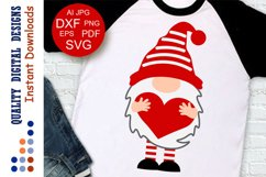 Red Gnome clipart Valentine shirt Love Product Image 1