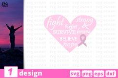 Cancer SVG Bundle | Awareness SVG | Breast Cancer Cut File Product Image 10
