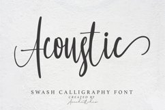 Acoustic - Swash Calligraphy Font Product Image 1
