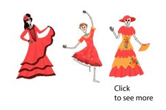 Mexican Day Of The Dead vector illustrations Product Image 2
