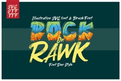 ROCK on RAWK   SVG Font Duo Product Image 1