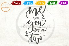 Me And You Just Couple Anniversary Quote Art Product Image 1