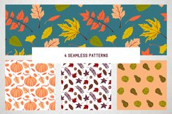 Hello autumn. Collection of vector elements and pattern Product Image 5