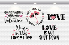 Quarantine Valentine / Pandemic Valentine Bundle SVG Files Product Image 3