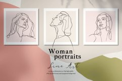 Line Art Woman Portraits Product Image 6