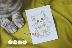 Cat, single line sketch / drawing file. Foil quill design. Product Image 2